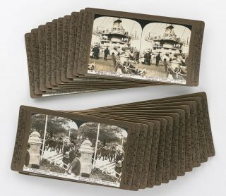 A collection of 22 stereographs published by the photographer, George Rose, Melbourne....