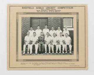 An official photograph of the squad from South Australia in Perth for the Sheffield Shield match...