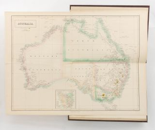 Atlas of Australia, with all the Gold Regions. A Series of Maps from the Latest and Best...