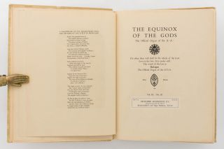 The Equinox of the Gods. The Official Organ of the A.'. A.'... The Official Organ of the O.T.O. Volume III, Number III