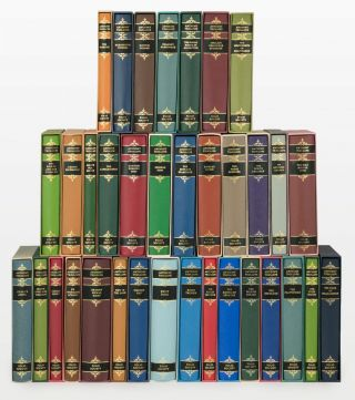 A collection of 35 volumes in the Folio Society edition of the works of Anthony Trollope (the set...