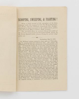 The Anglo-Boer War. No. 6. Scooping! Sweeping! Fighting! [cover title]