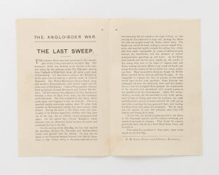 The Anglo-Boer War. No. 12. The Last Sweep [cover title]