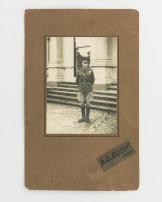 A full-length portrait in military uniform, signed as Edward, Prince of Wales. HRH Edward WALES,...