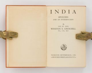 India. Speeches and an Introduction