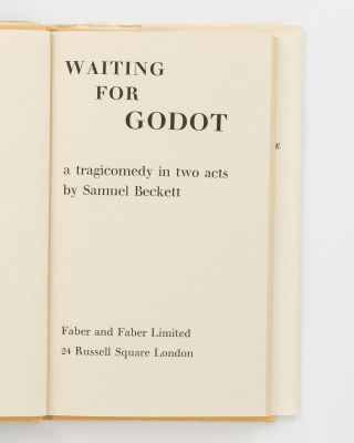 Waiting for Godot. A Tragicomedy in Two Acts
