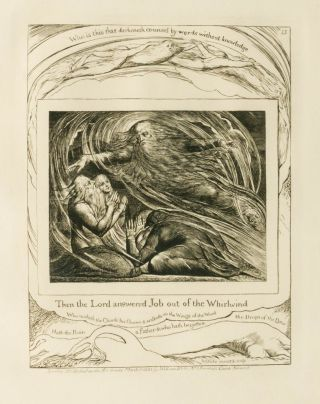 'Then the Lord answered Job out of the Whirlwind' [Plate 13 from 'Illustrations of the Book of...