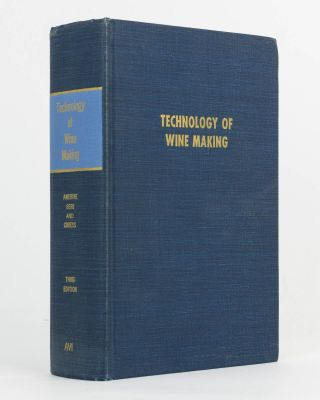 The Technology of Wine Making. M. A. AMERINE, H. W. BERG, W V. CRUESS