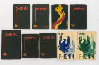 Phoenix. Published annually by the Adelaide University Students' Representative Council. 1935. [Together with the issues for 1936, 1937, 1938, 1939, 1946, 1948, 1949 and 1950 - the complete set of nine volumes]