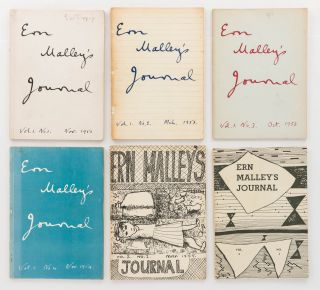 Ern Malley's Journal. Volume 1, Number 1, November 1952 to Volume 2, Number 2, November 1955. [The complete run of six issues, published sporadically, and edited by Max Harris, John Reed and Barrie Reid]