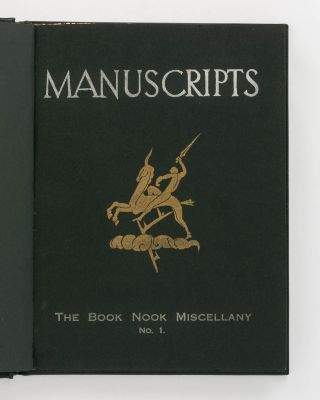 Manuscripts... Number 1, [November 1931] to Number 13, May 1935 (the complete set, variously subtitled 'The Book Nook Miscellany' [Numbers 1 and 2], 'A Miscellany of Art and Letters' [Numbers 3 to 10] and 'A Quarterly of Art and Letters' [Numbers 11 and 12]; A.C. Jackson was the co-editor for the last two issues