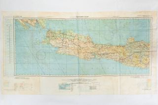 AAF Cloth Map [Miscellaneous Maps Series]. C-47 South Borneo [recto]. [Together with] C-48 West Java [verso]. Advance Edition