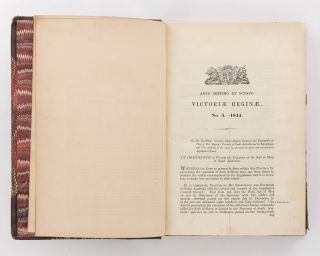 The Acts and Ordinances of South Australia ... A bound volume containing Numbers 3, 8 and 17 of...