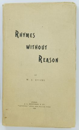 Rhymes without Reason. W. J. EVANS