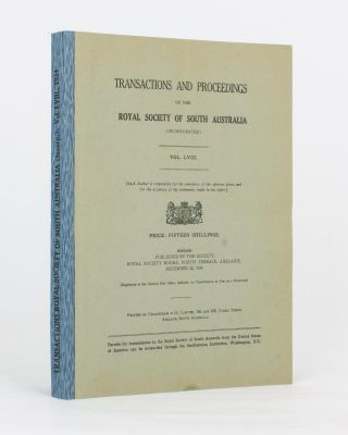 Notes on the Aborigines of the South-East of South Australia. [Contained in] Transactions of the...