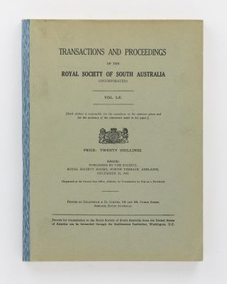 Notes on the Natives of the Southern Portion of Yorke Peninsula, South Australia. [Contained in] Transactions of the Royal Society of South Australia, Volume 60, 1936