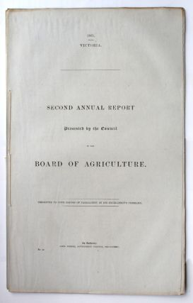 Second Annual Report presented by the Council to the Board of Agriculture