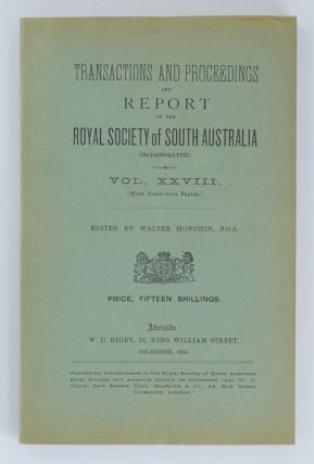 Anthropological Notes made on the South Australian Government North-West Prospecting Expedition,...