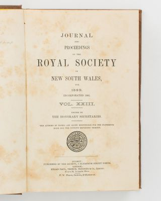 The Australian Aborigines. [Contained in the] Journal and Proceedings of the Royal Society of New South Wales, Volume 23, 1889