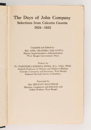 The Days of John Company. Selections from 'Calcutta Gazette', 1824-1832