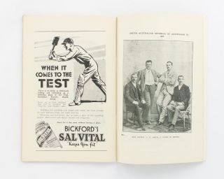 Souvenir of English Cricketers' Visit to Adelaide. Third Test Match. January 13, 1933