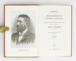 Journal of Explorations in Central Australia, by The Central Australian Exploration Syndicate .. 1898 to 1900