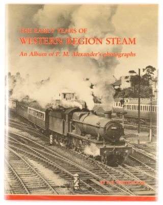 An album of photographs of British steam trains. The cloth-bound album (200 x 275 mm) contains 96 original gelatin silver photographs (each 62 x 85 mm) loosely inserted four-to-a-page behind window mounts on 12 double-sided leaves. An original photograph, trimmed to approximately 40 x 60 mm, has been mounted on the front cover. All bar 12 photographs are identified or captioned in some way in ink on the mount below the image