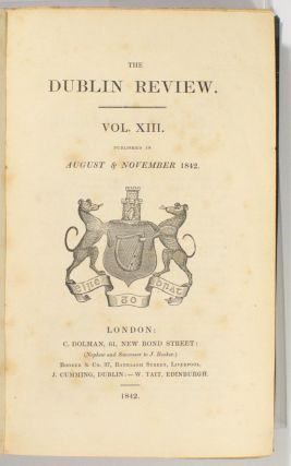 Progress of Australian Discovery. [Contained in] The Dublin Review, Volume XIII, 1842. Western...