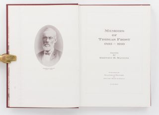 Memoirs of Thomas Frost, 1825-1910