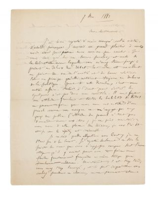 An autograph letter (in French) signed by Camille Saint-Saëns, to Edmond Hippeau, editor of 'La...