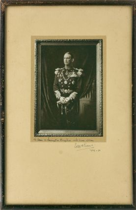 A signed photograph of a portrait in oils of Admiral Edward Evans in full dress uniform. Admiral...