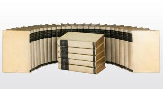 A uniformly bound collection of works by or relating to Horace Walpole, comprising seven titles...