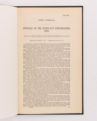 Journal of Mr Barclay's Exploration, 1878