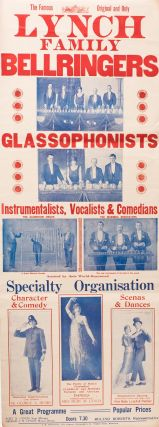 A pair of posters for 'The Famous, Original and Only | Lynch | Family | Bellringers | Glassophonists'