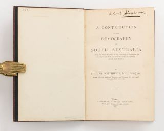A Contribution to the Demography of South Australia