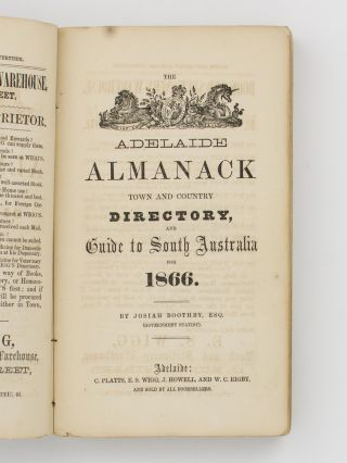 The Adelaide Almanack, Town and Country Directory, and Guide to South Australia for 1866