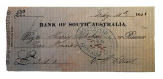 Two early items associated with the Bank of South Australia are offered together. (1) A...