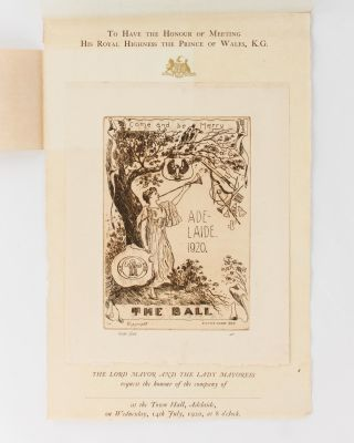The menu for supper at the Adelaide Town Hall, July 1920, one of the civic celebrations organised during the visit of His Royal Highness, Edward, the Prince of Wales (later King Edward VIII)