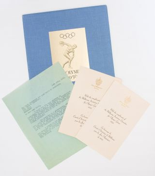 The Melbourne Invitation Committee extends a most cordial Invitation to the esteemed International Olympic Committee to celebrate the XVI Olympiad in Melbourne, Australia, in 1956 [first page of text]