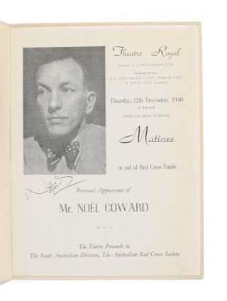 Theatre Royal ... Thursday, 12th December, 1940 ... Matinee in aid of Red Cross Funds. Personal Appearance of Mr Noel Coward ..