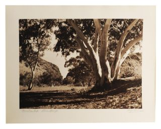 An album of 25 bromoil prints of Central Australia, individually captioned and signed (Hugo Keil ARPS) in pencil on the wide bottom margins; undated, but early 1940s? The images (195 x 245 mm or the reverse) are tipped in on album leaves (rectos only); these are cord-bound into the cloth-covered album (now slightly rubbed and marked); they are in uniformly fine condition