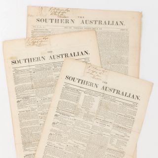 The Southern Australian. Volume 1, Number 29 (15 December 1838) + Number 30 (22 December 1838) +...