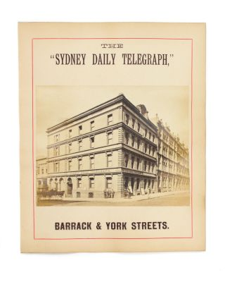 Three advertisements for Sydney businesses from the 1870s, illustrated with original full-plate albumen paper photographs