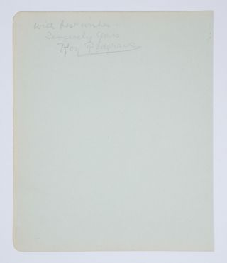 An autograph inscription signed (in pencil) on a large detached album leaf (190 × 160 mm, with...