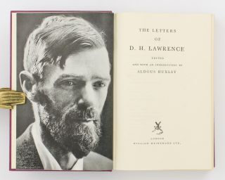 The Letters of D.H. Lawrence. Edited, and with an Introduction, by Aldous Huxley