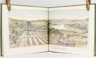 The Book of Canberra, Australia's National Capital. A Collection of Three Lithographic Prints of Canberra drawn in 1965 by Harold Freedman compared with Reproductions of Early Paintings of the Site on which Canberra now stands. Descriptive Text by Robin Boyd. Foreword by the Rt. Hon. Harold Holt, Prime Minister of Australia