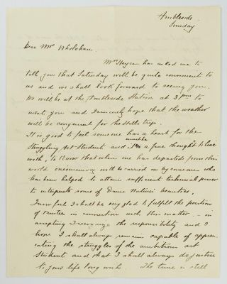 An autograph letter signed to 'Dear Mrs Wholahan'; quarto, two pages, Ambleside [Hahndorf],...
