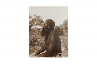 Five vintage gelatin silver photographs (each 215 x 165 mm) by Gillen or Spencer, being individual portraits of four Indigenous men and one woman in the Northern Territory, 1901-02