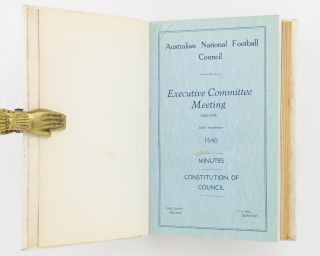 Australian National Football Council. Executive Committee Meeting, Adelaide, 23rd November, 1940. Minutes .