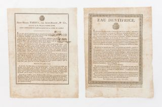 Eau Dentifrice [drop title]. [Together with] Jean-Marie Farina, rue Saint-Honoré, No. 331,...